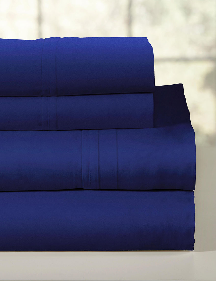 Pointehaven Dark Blue Sheets & Pillowcases