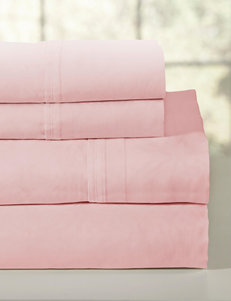 Pointehaven 4-pc. 200 Thread Count Combed Cotton Rose Sheet Set