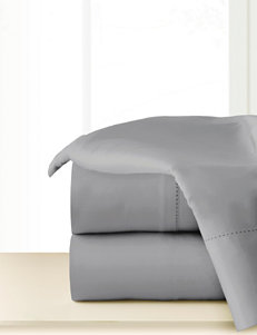 Pointehaven 4-pc. 300 Thread Count Grey Organic Cotton Sheet Set