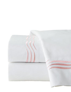 Pointehaven 4-pc. 300 Thread Count Blush Wave Embroidered Sheet Set