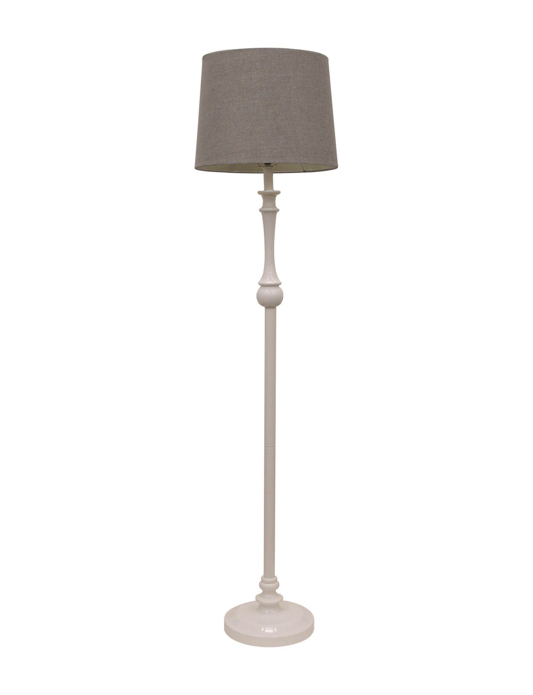 Decor Therapy White Floor Lamps Lighting & Lamps