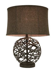 Decor Therapy Grey Floor Lamps Table Lamps Lighting & Lamps