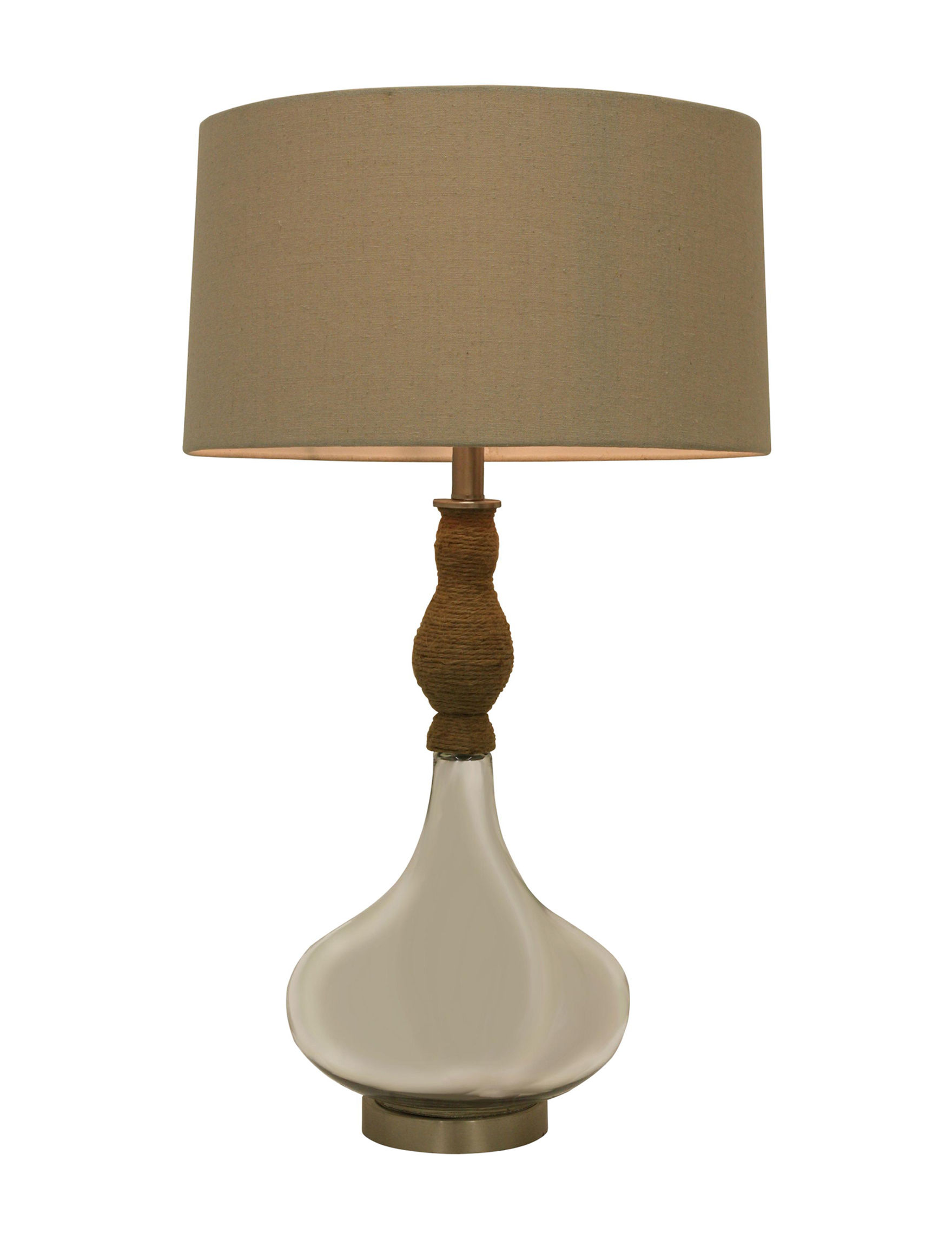 Decor Therapy Grey Table Lamps Lighting & Lamps