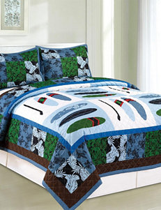 Compass Blue Multi Quilts & Quilt Sets
