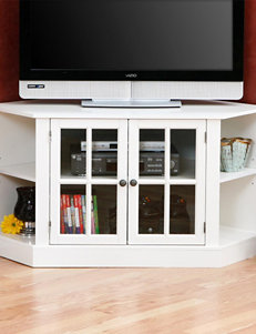 Southern Enterprises White TV Stands & Entertainment Centers Living Room Furniture