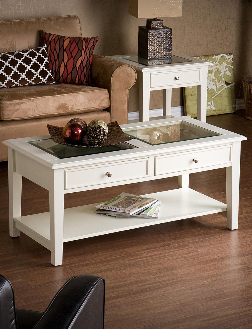 Southern Enterprises Off White Coffee Tables Living Room Furniture