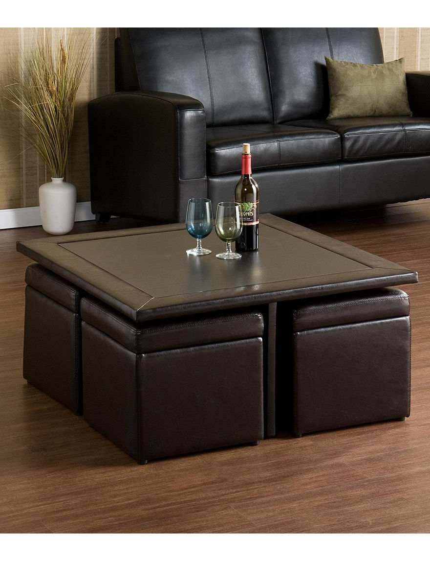 Southern Enterprises Dark Brown Coffee Tables Living Room Furniture