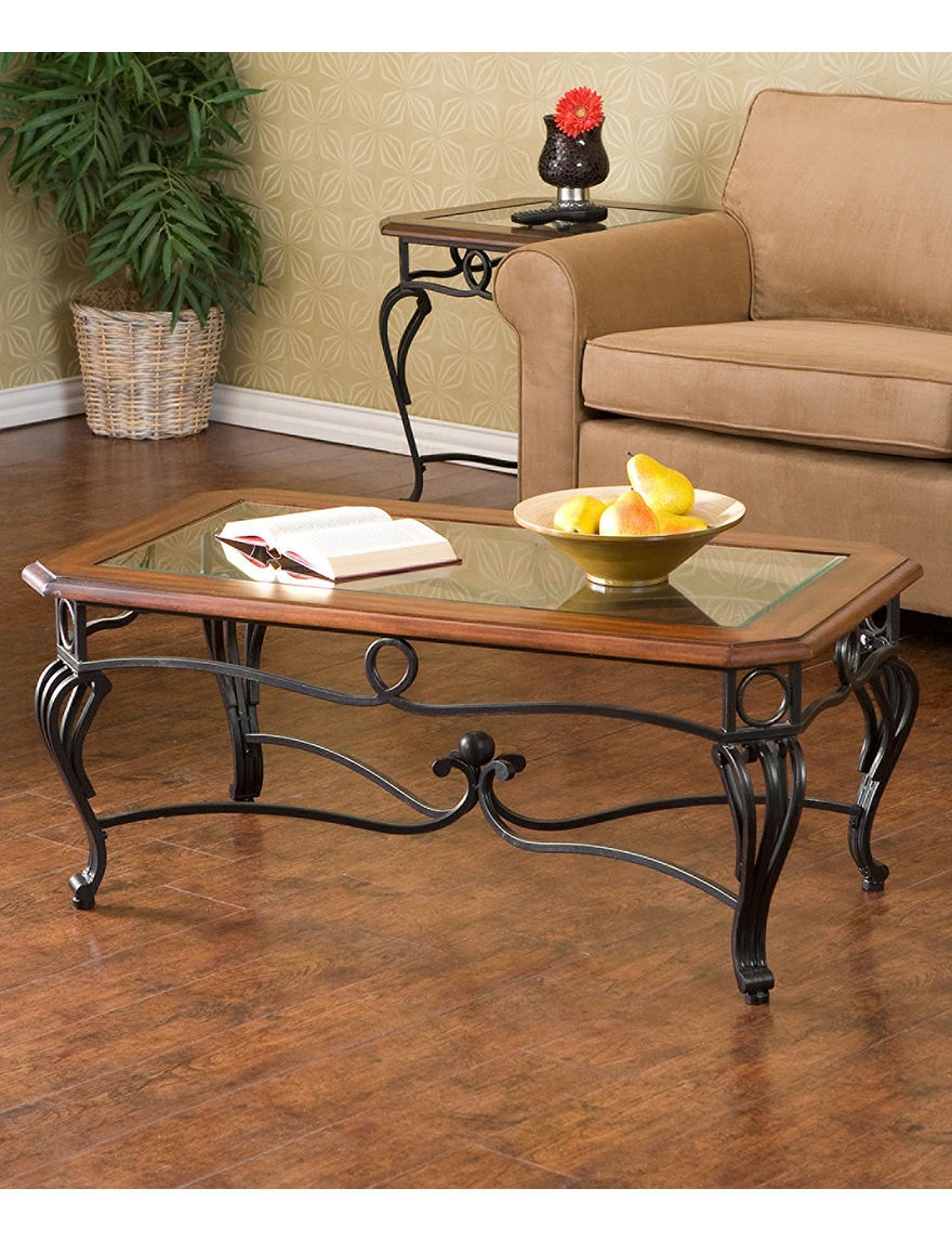 Southern Enterprises Cherry Coffee Tables Living Room Furniture