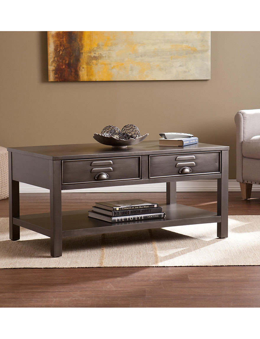 Southern Enterprises Grey Coffee Tables Living Room Furniture