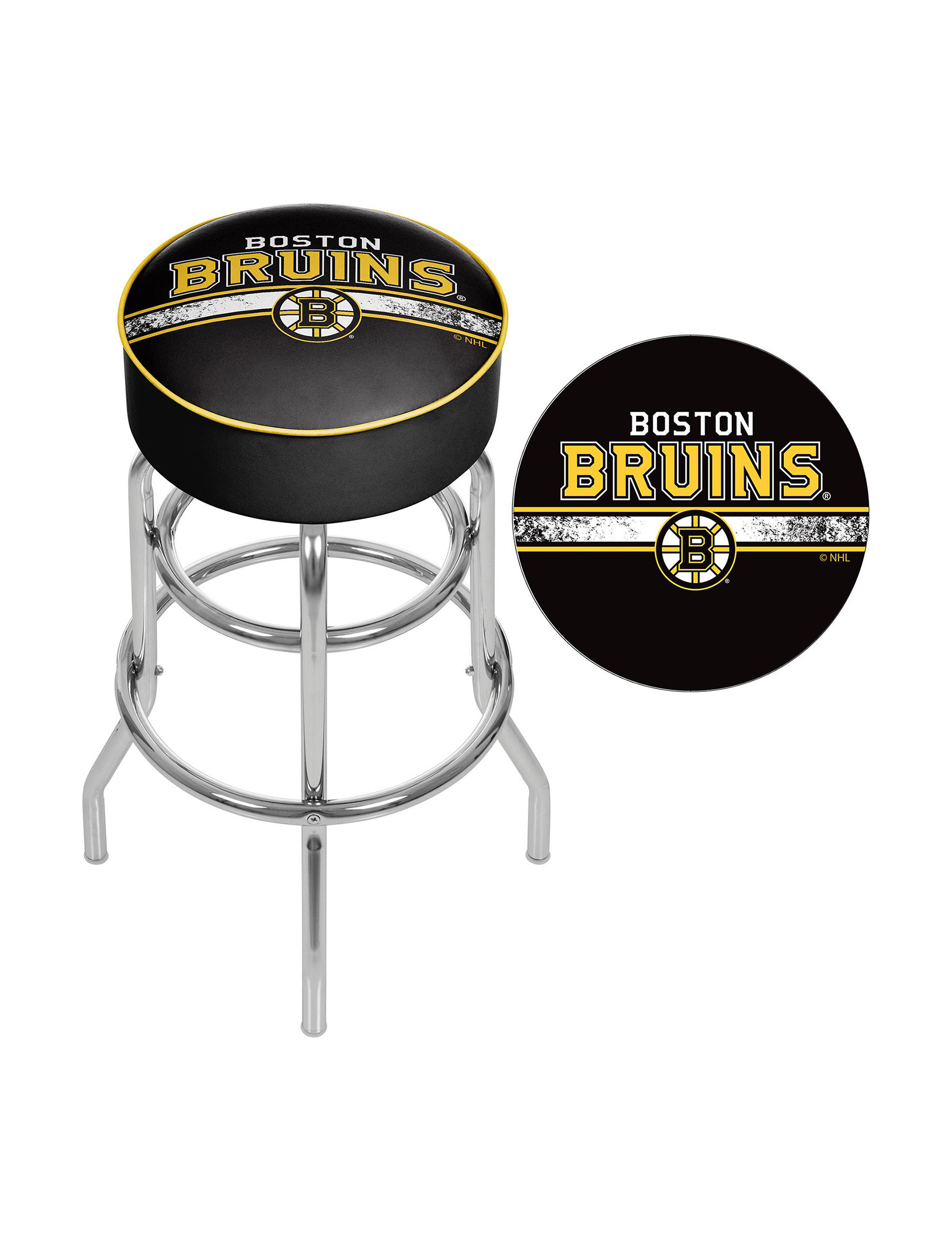 Nhl Boston Bruins Swivel Bar Stool Stage Stores