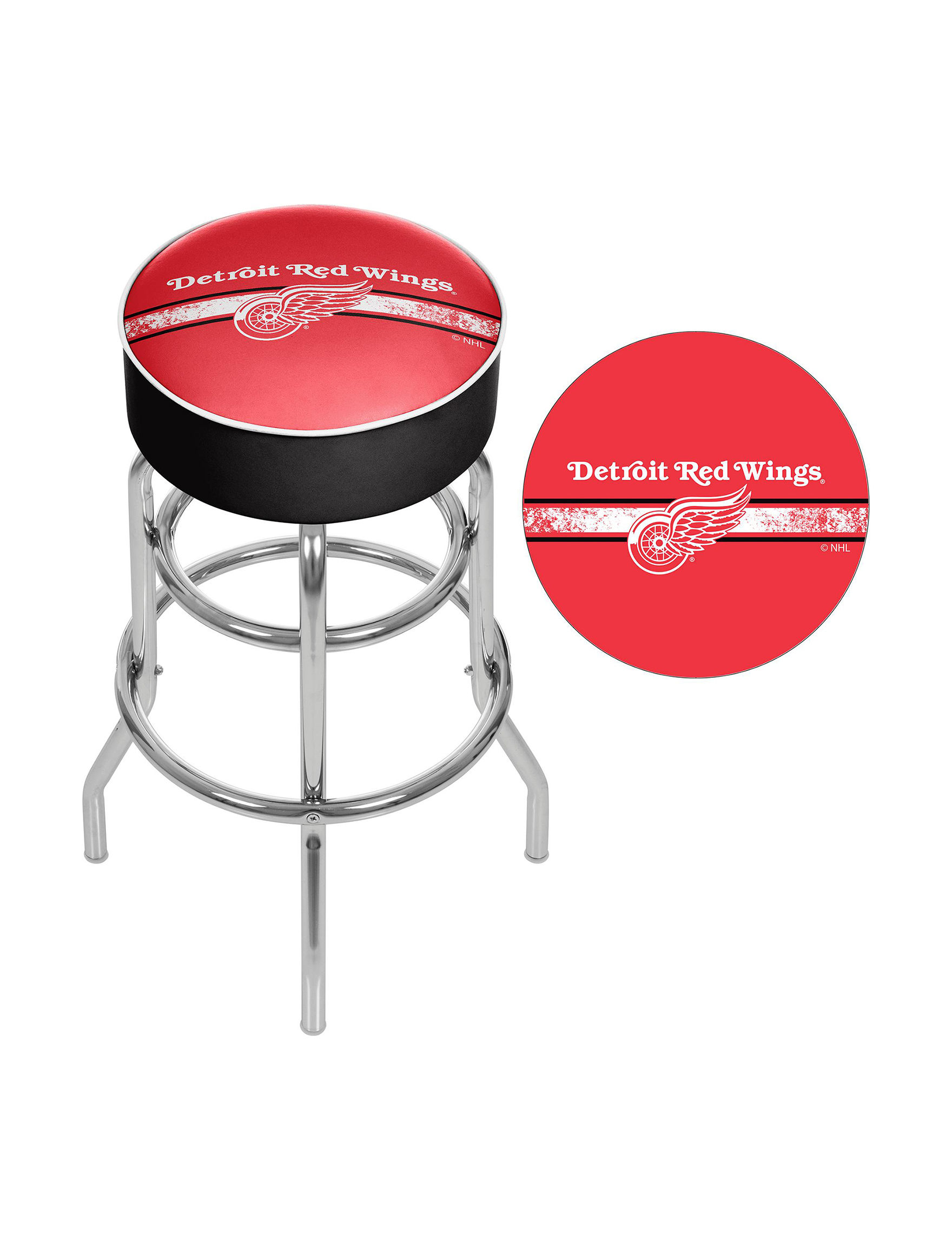 Nhl Detroit Red Wings Swivel Bar Stool Stage Stores