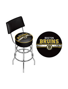 NHL Boston Bruins Swivel Bar Stool With Back