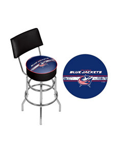 NHL Columbus Blue Jackets Swivel Bar Stool With Back