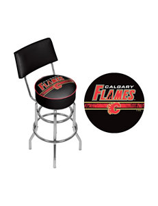 NHL Calgary Flames Swivel Bar Stool With Back