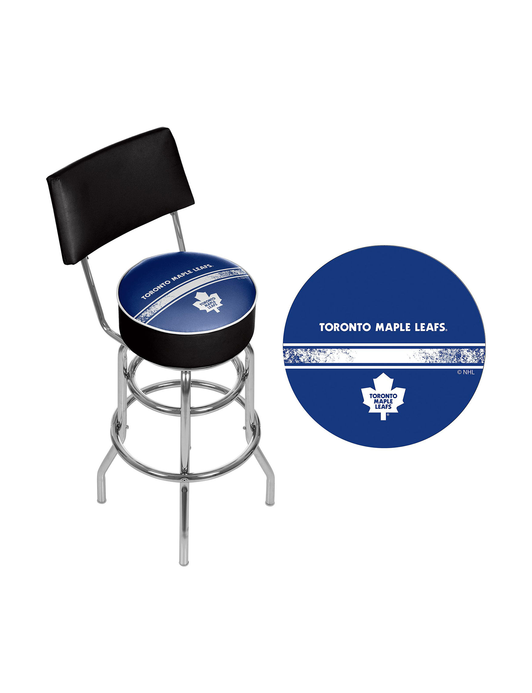 Nhl Toronto Maple Leafs Swivel Bar Stool With Back Stage
