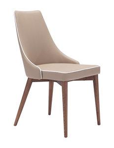 Zuo Modern Beige Dining Chairs Kitchen & Dining Furniture