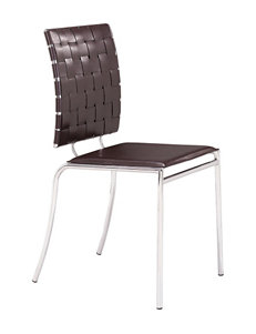 Zuo Modern Espresso Dining Chairs Kitchen & Dining Furniture