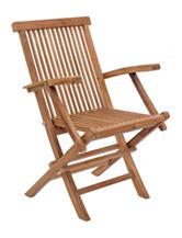 Zuo Regatta 2-pk. Natural Folding Arm Chair Set