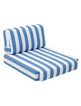 Zuo Bilander Blue & White Stripe Print Arm Chair Cushion