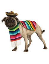 3-pc. Mexican Serape Pet Costume