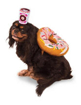 Donut and Coffee Pet Costume
