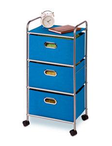 Honey-Can-Do International Blue Carts & Drawers Storage Bags & Boxes Storage & Organization