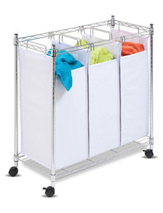 Honey-Can-Do 3 Section Rolling Laundry Sorter