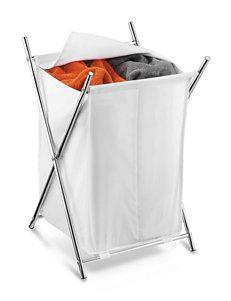 Honey-Can-Do International Chrome Laundry Hampers Storage & Organization