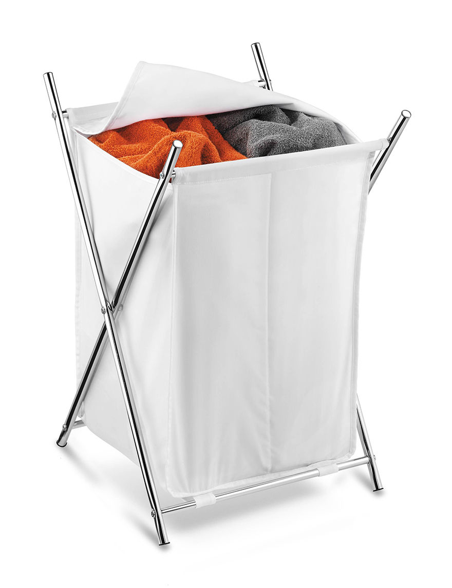 Honey-Can-Do International Chrome Laundry Hampers Storage & Organization