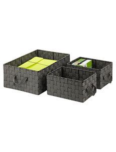 Honey-Can-Do International Black / White Storage & Organization