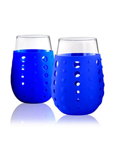 Artland Blue Wine Glasses Drinkware