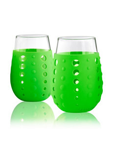 Artland Green Wine Glasses Drinkware