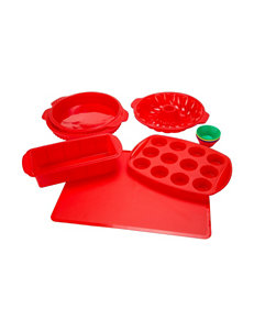 Classic Cuisine Red Bakeware Sets Bakeware Cookware