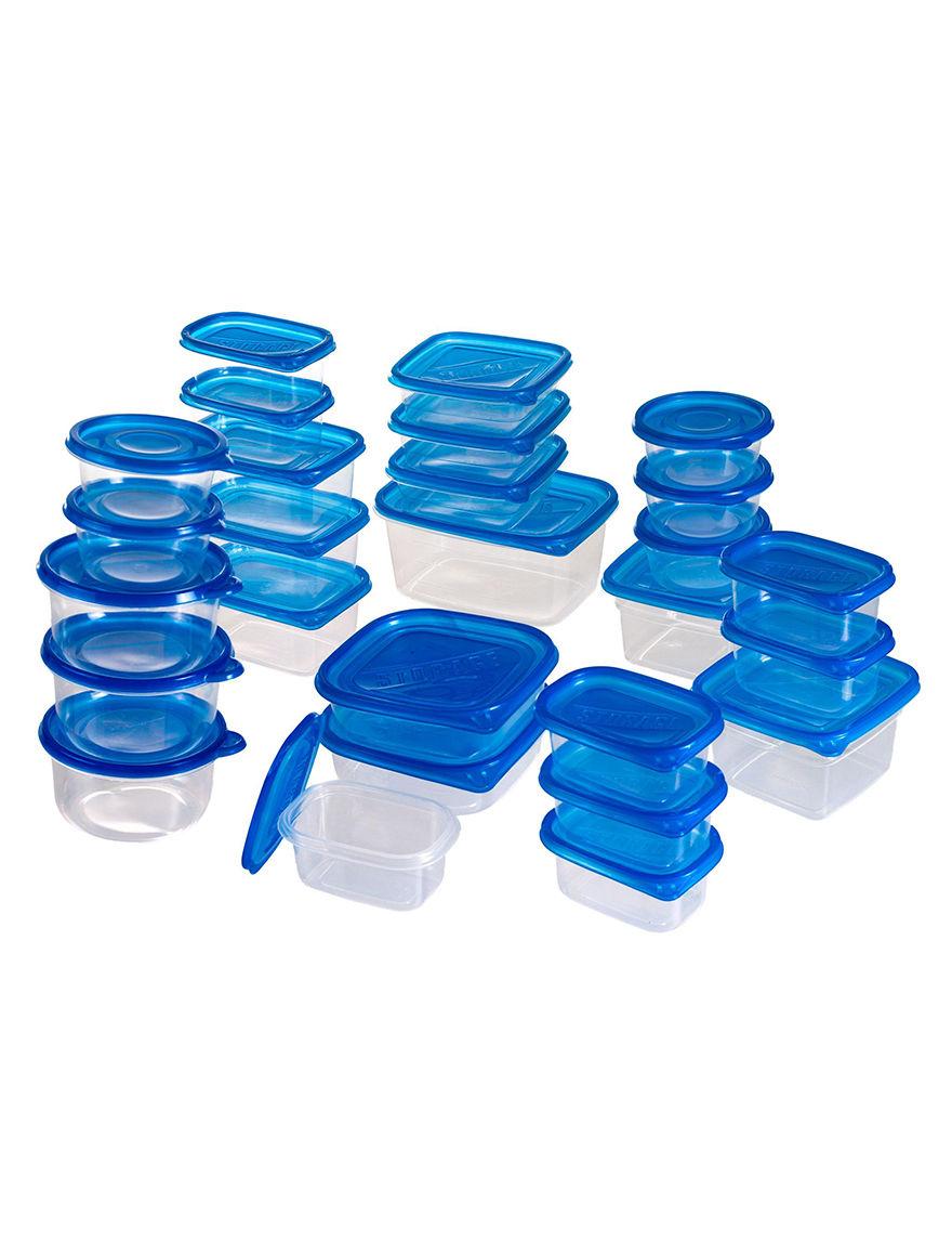 Chef Buddy White/Blue Food Storage Kitchen Storage & Organization