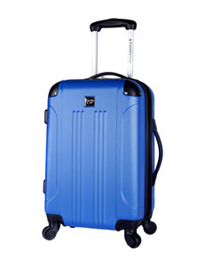 Travelers Club Luggage Blue Upright Spinners