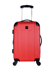 Travelers Club Luggage Red Upright Spinners