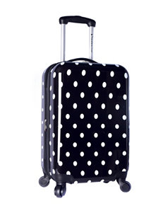 Travelers Club Luggage White Upright Spinners