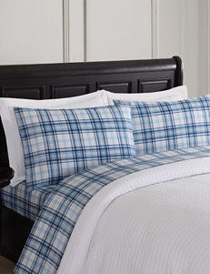 London Fog Blue / White Sheets & Pillowcases