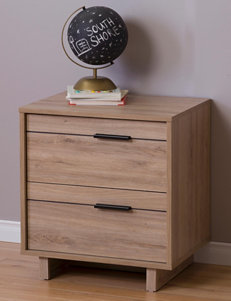 South Shore Rustic Night Stands Bedroom Furniture
