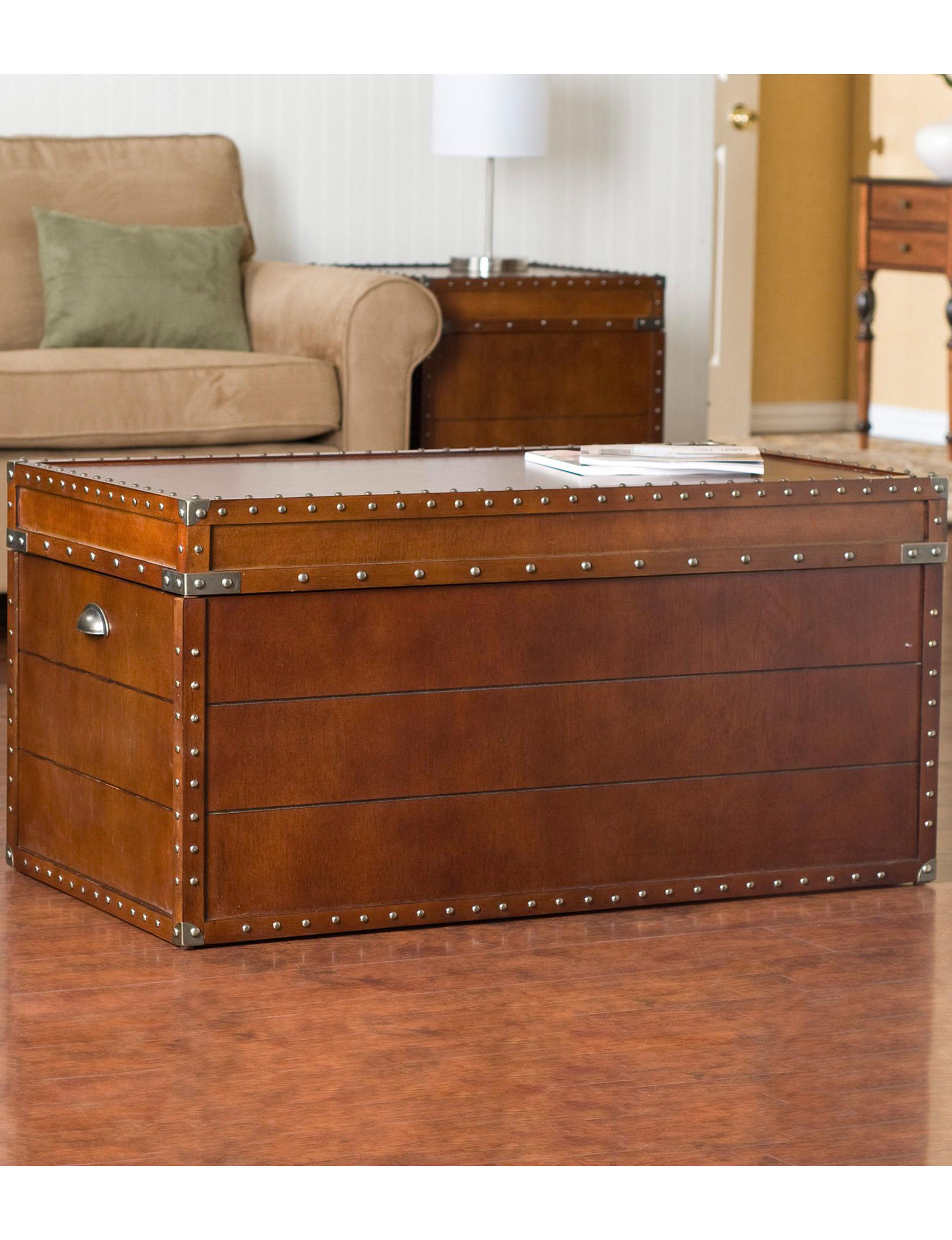 Southern Enterprises Walnut Coffee Tables Living Room Furniture