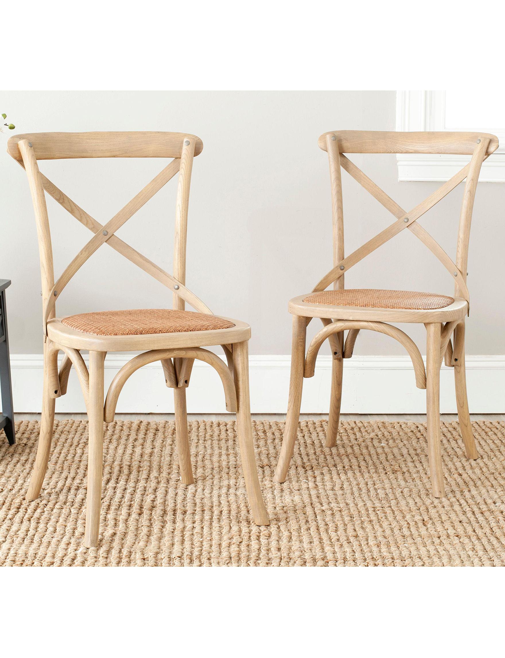 Safavieh Oak Dining Chairs Kitchen & Dining Furniture