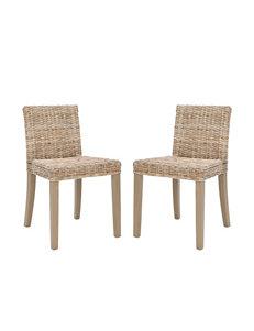 Safavieh 2-pc. Tulum Wicker Side Chair Set