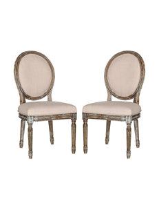 Safavieh Beige Dining Chairs Kitchen & Dining Furniture