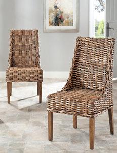Safavieh 2-pk. Suncoast Woven Rattan Arm Chairs
