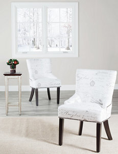 Safavieh White Accent Chairs Living Room Furniture