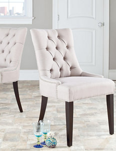 Safavieh 2-pk. Abby Tufted Linen Chairs