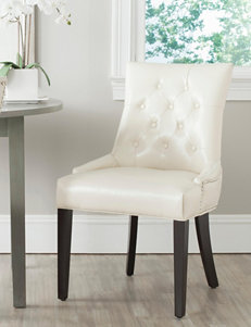 Safavieh 2-pc. Harlow Bicast Leather Tufted Ring Chair Set