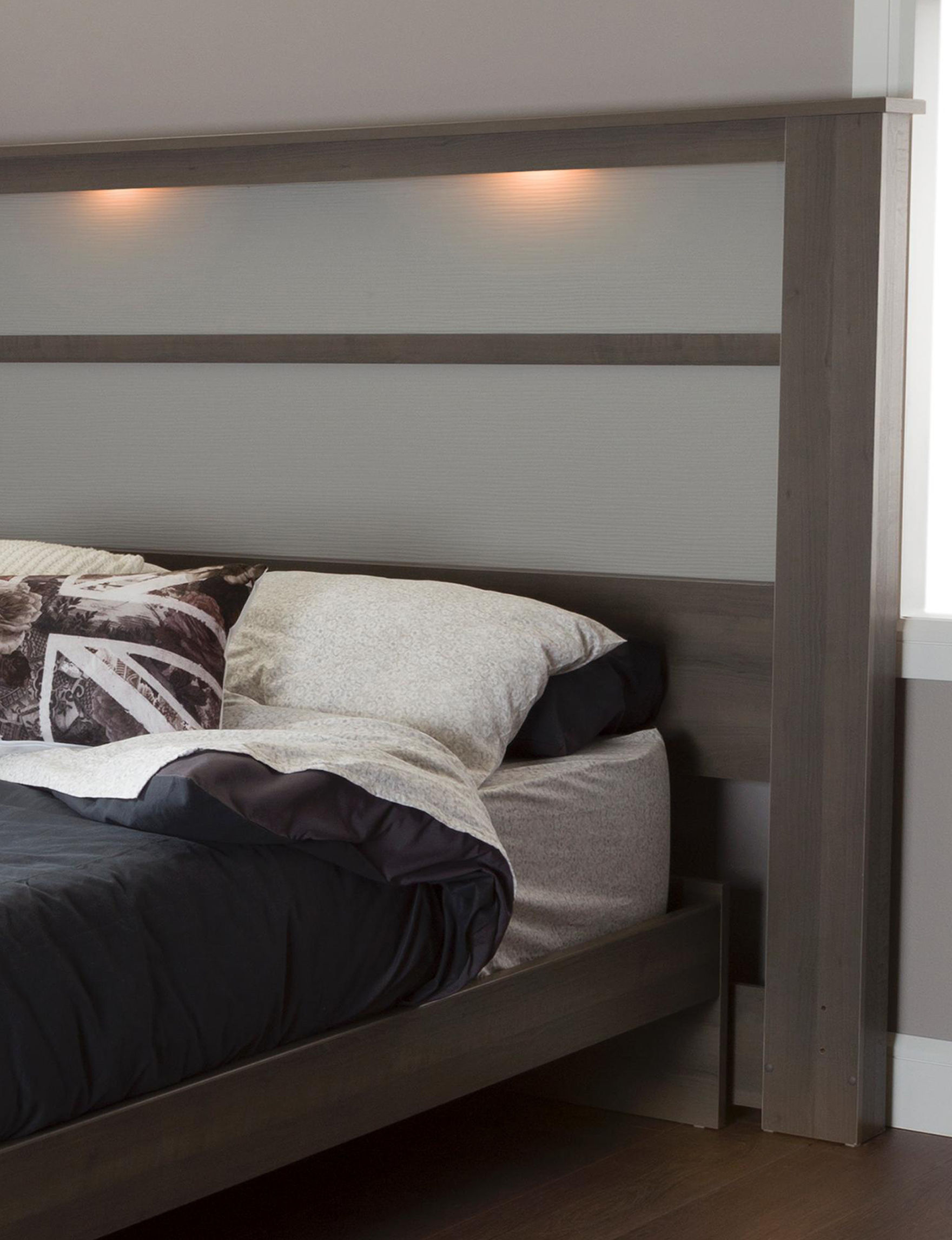 South Shore Gray Beds & Headboards Bedroom Furniture