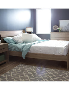 South Shore Fushion Queen Platform Bed Frame With Headboard