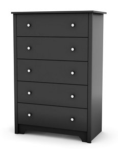 South Shore Black Dressers & Chests Bedroom Furniture